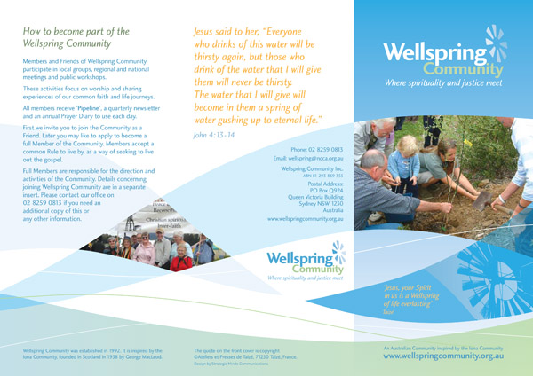 Wellspring Community - Brochure - Page 1